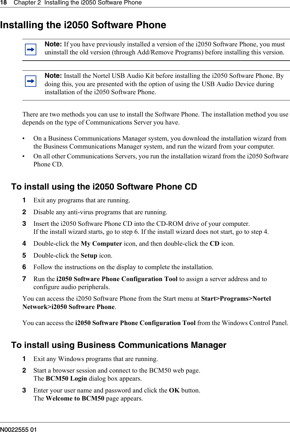 Avaya I2050 Software Phone Installation Guide
