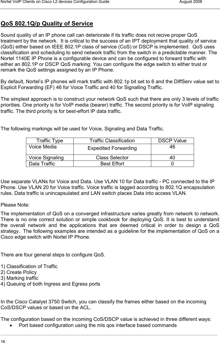 Avaya Ip Phone Inter Working With Cisco L2 Switches