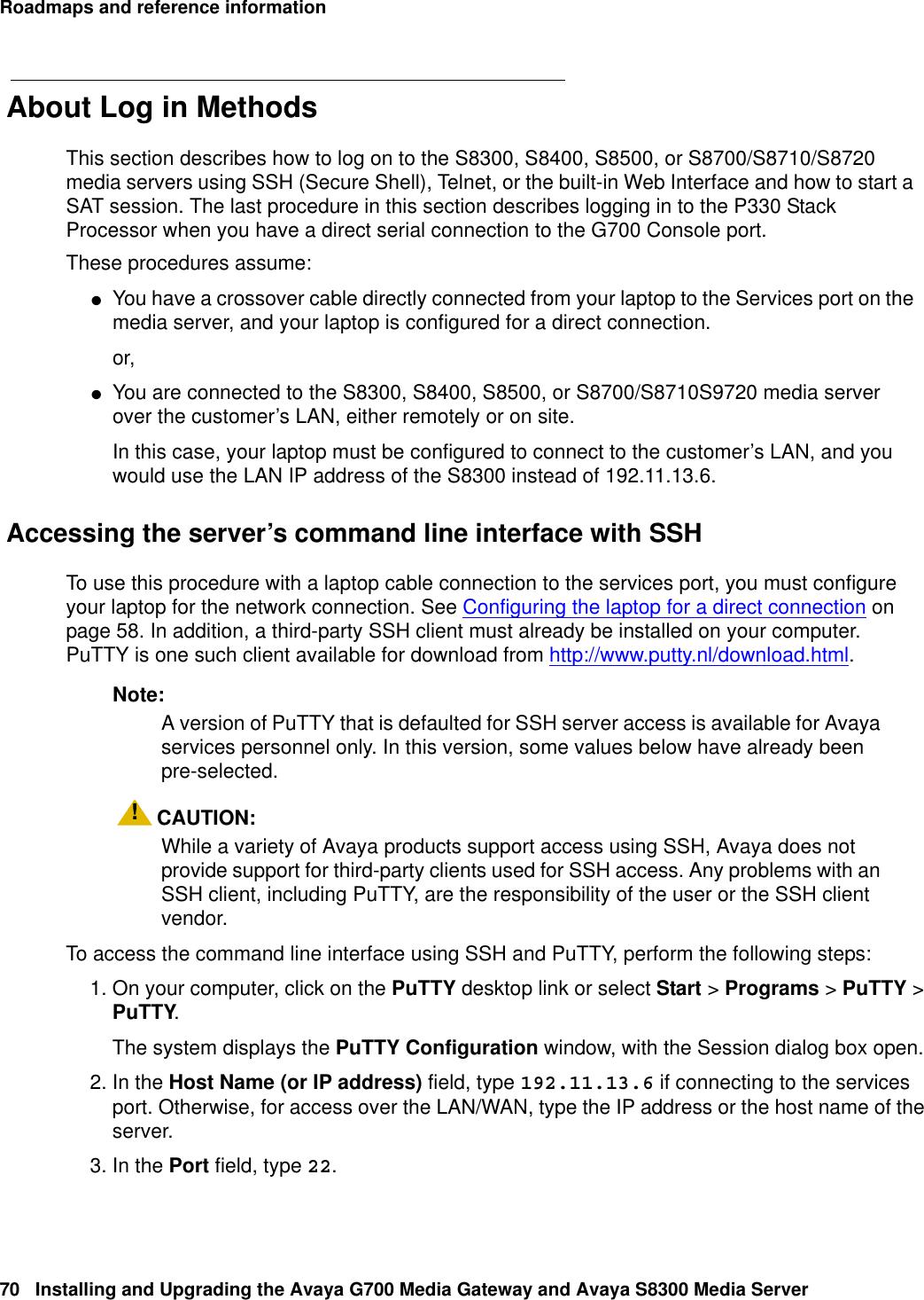 Avaya Media Gateway G700 Users Manual Installing And Upgrading
