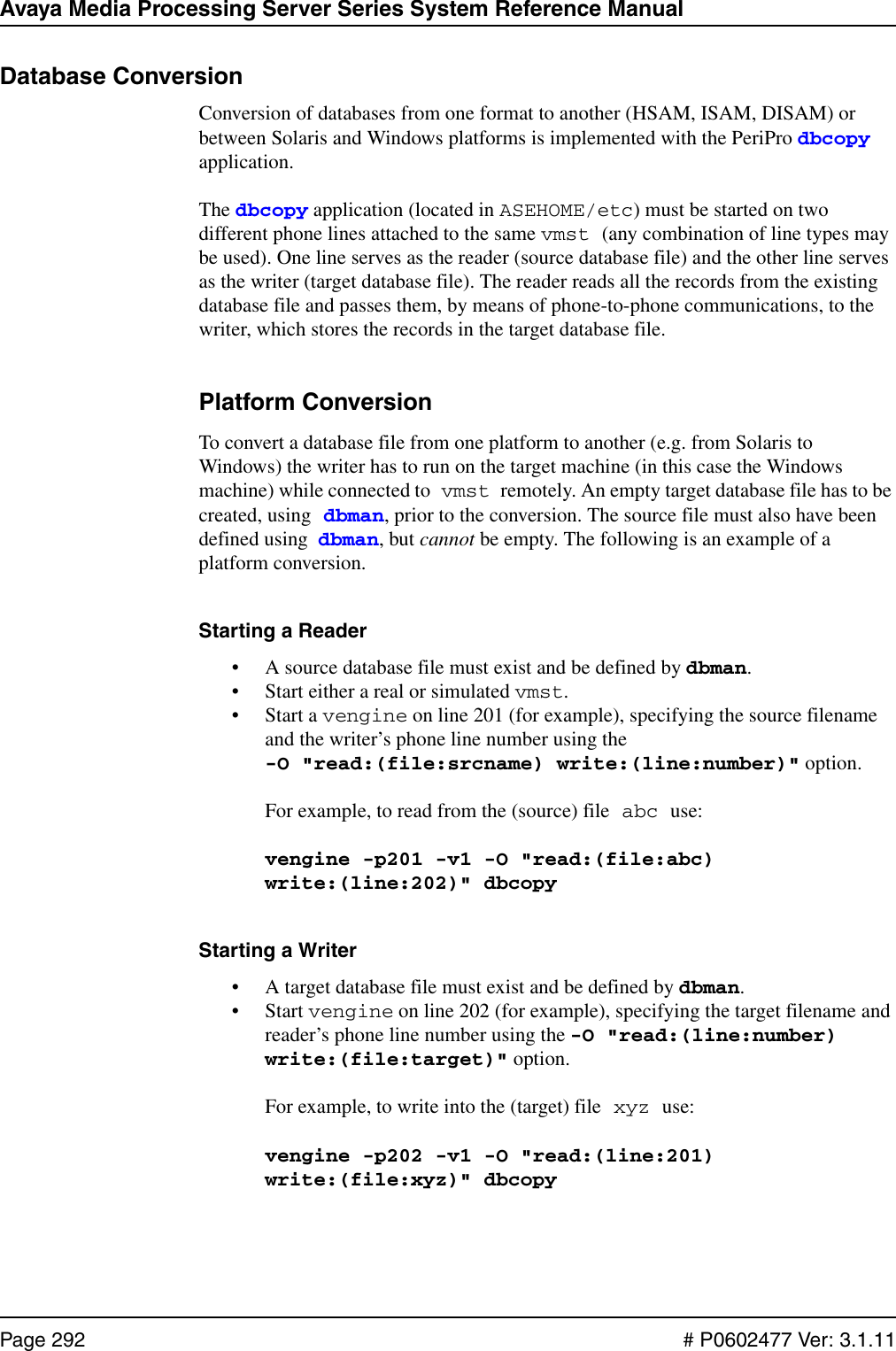 Avaya Media Processing Server Series System Software Release 2 1