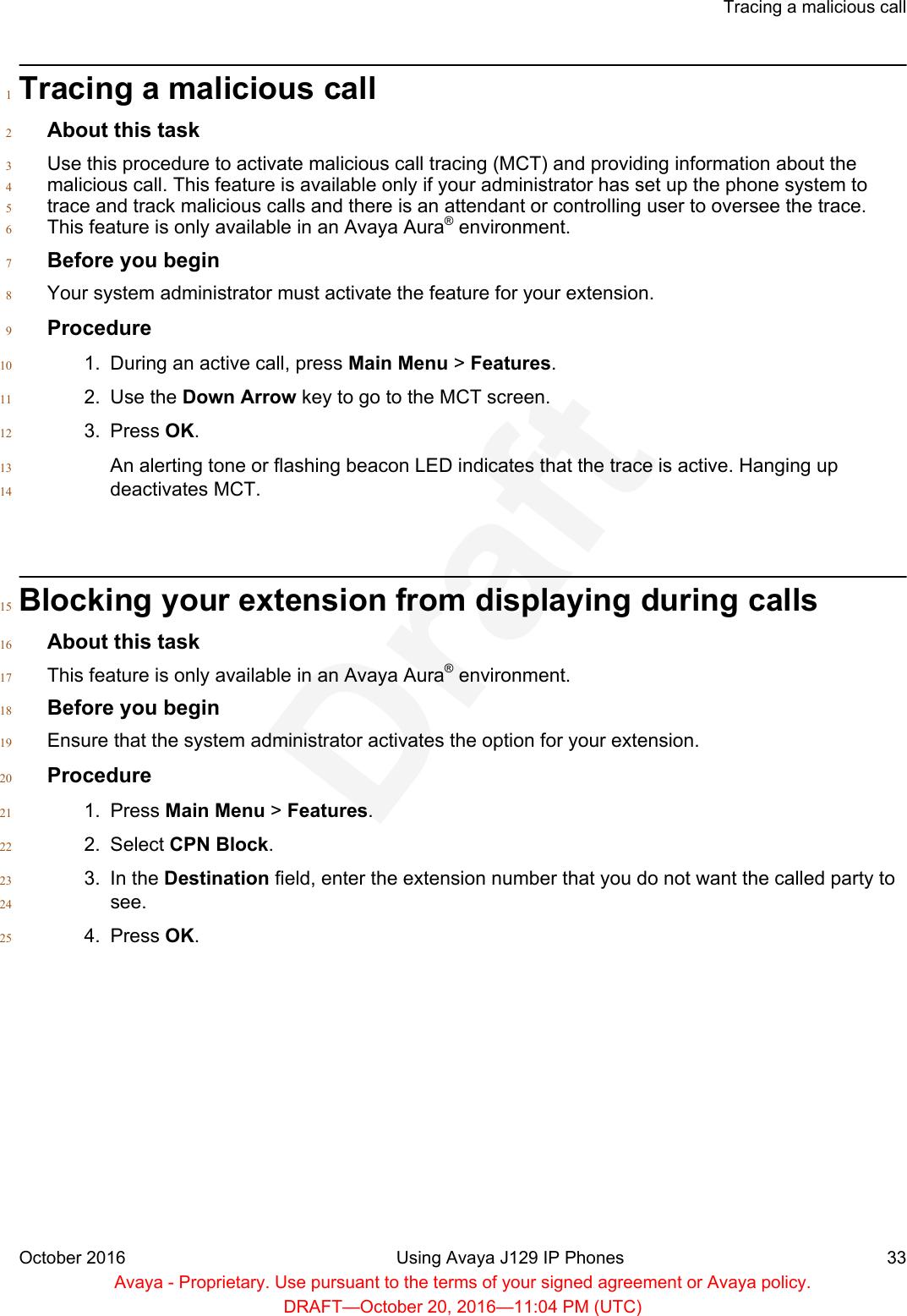 Avaya J129 J129 IP Deskphone User Manual Using Avaya J129 IP Phones