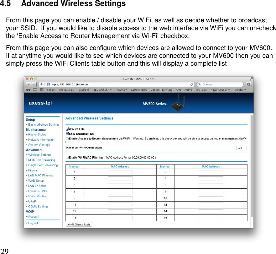 Axesstel MV640 CDMA 1x ED-DO rev B Router User Manual