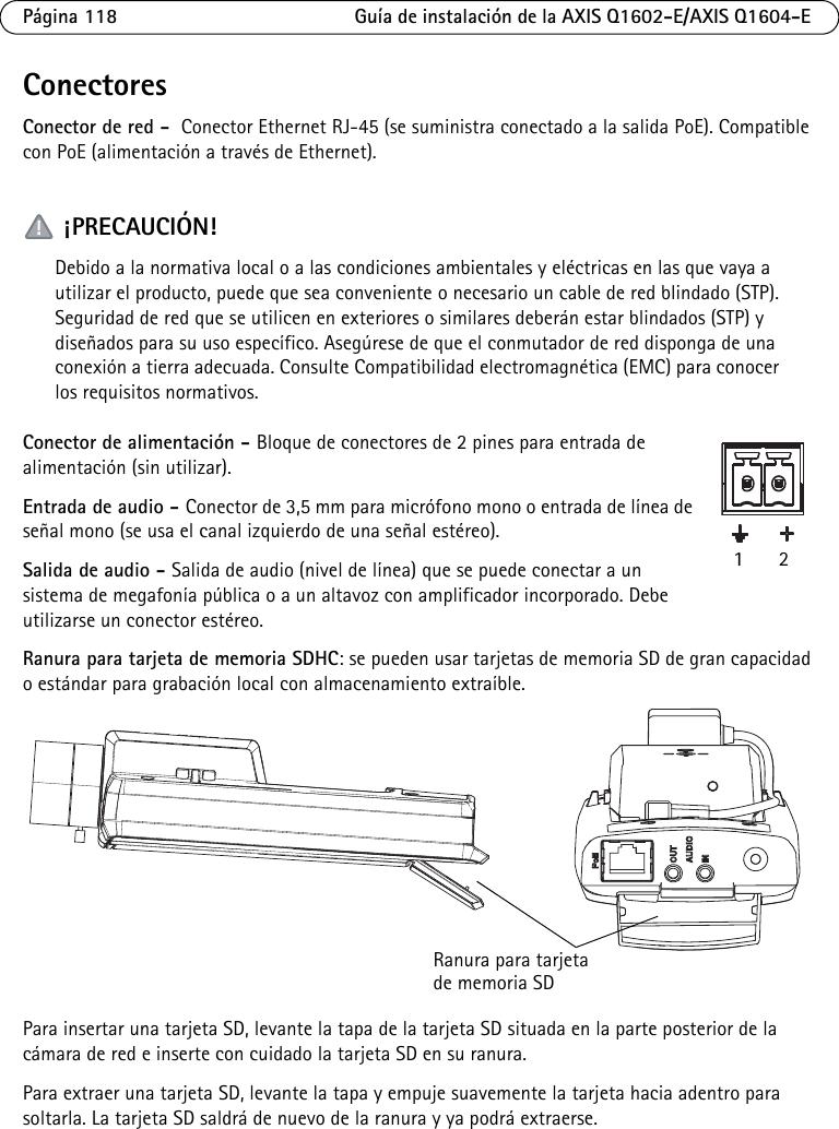 Axis Communications Security Camera Q1602 E Users Manual E