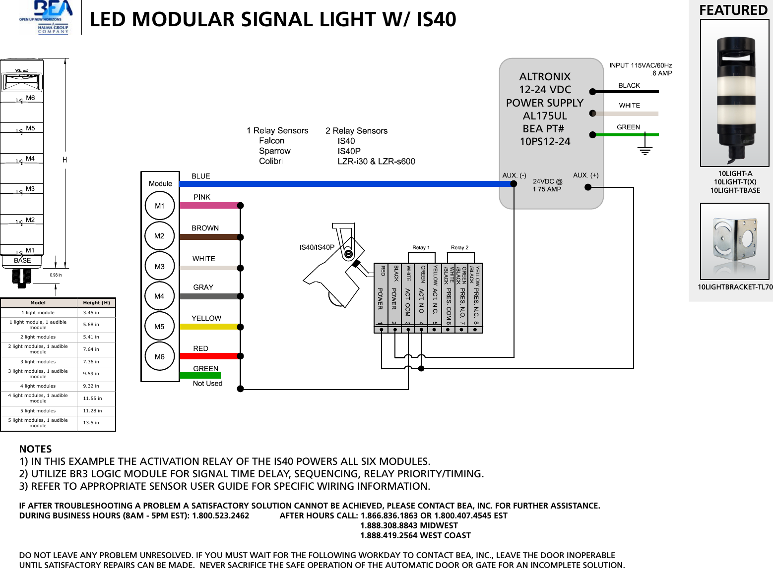 Bea 75 5839 03 Banner Wiring Diagram Led Signal Column Lights