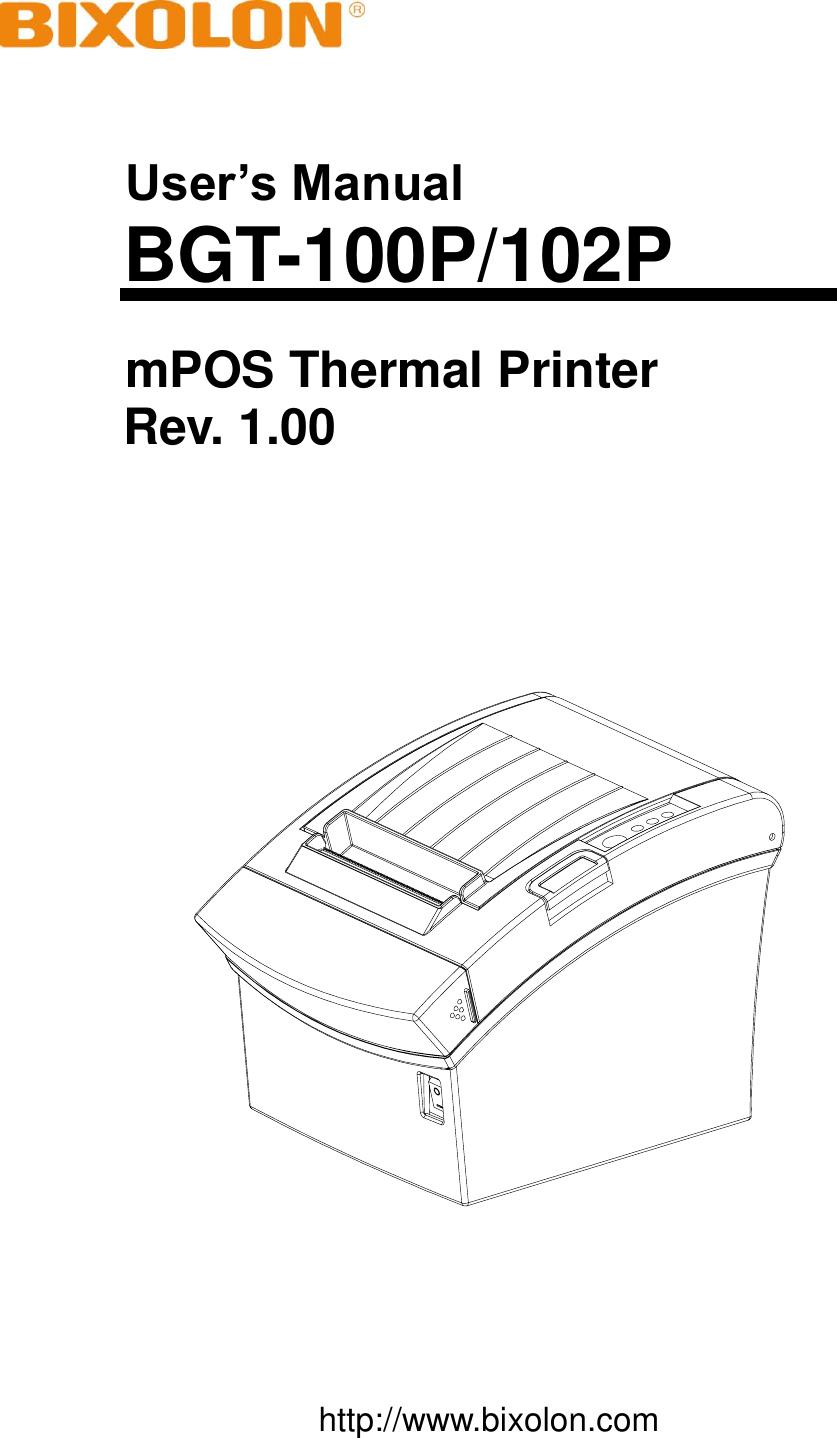 bixolon bgt 100p mpos thermal printer user manual rh usermanual wiki Susan Boyle BGT BGT Alesha