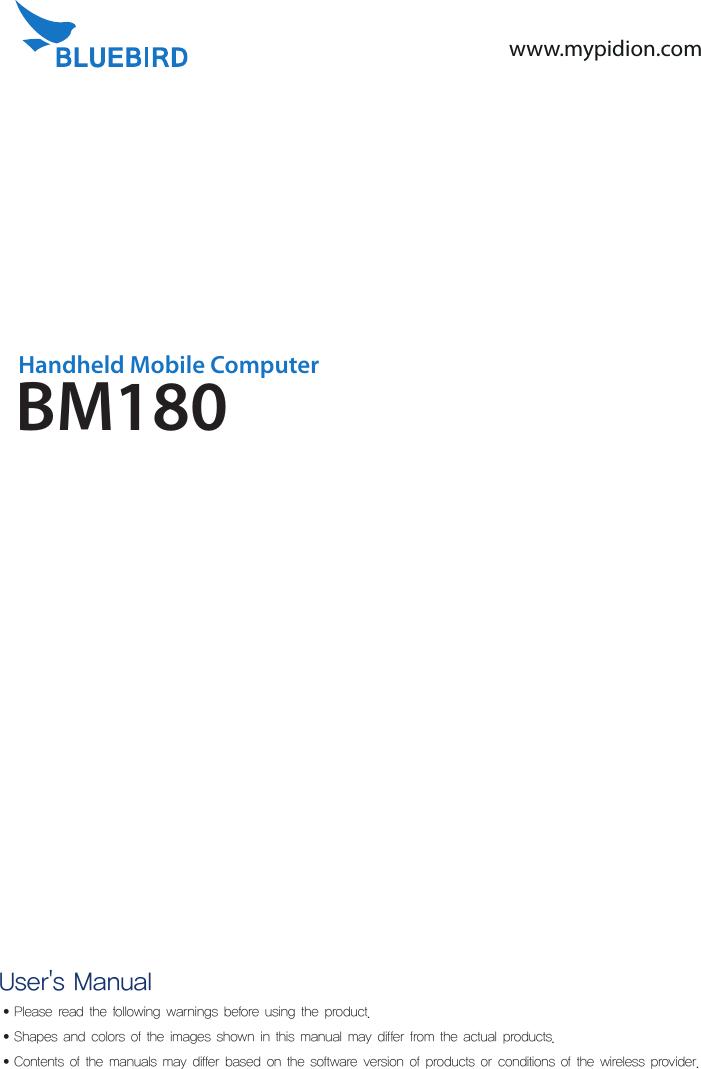 bluebird bm180m handheld mobile computer user manual bm180 indd rh usermanual wiki Clip Art User Guide Kindle Fire User Guide