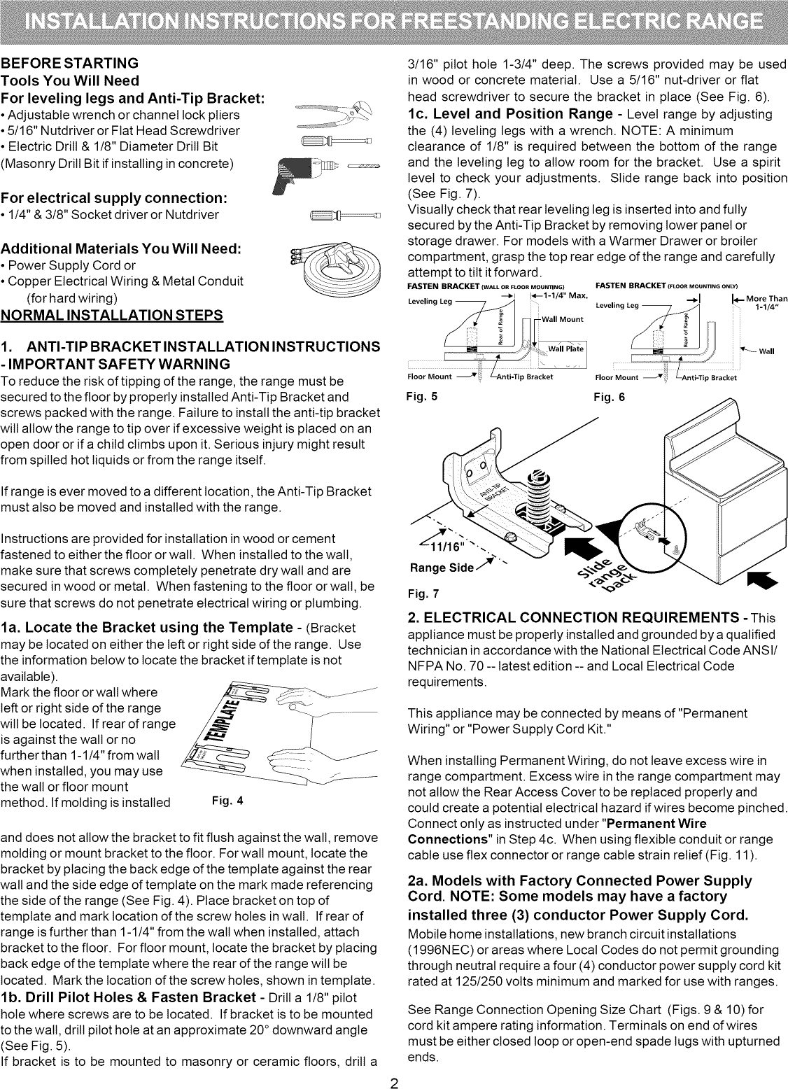 Bosch Free Standing Electric Manual L0908297 Mobile Home Wiring Diagram Branch Circuits Page 2 Of 8