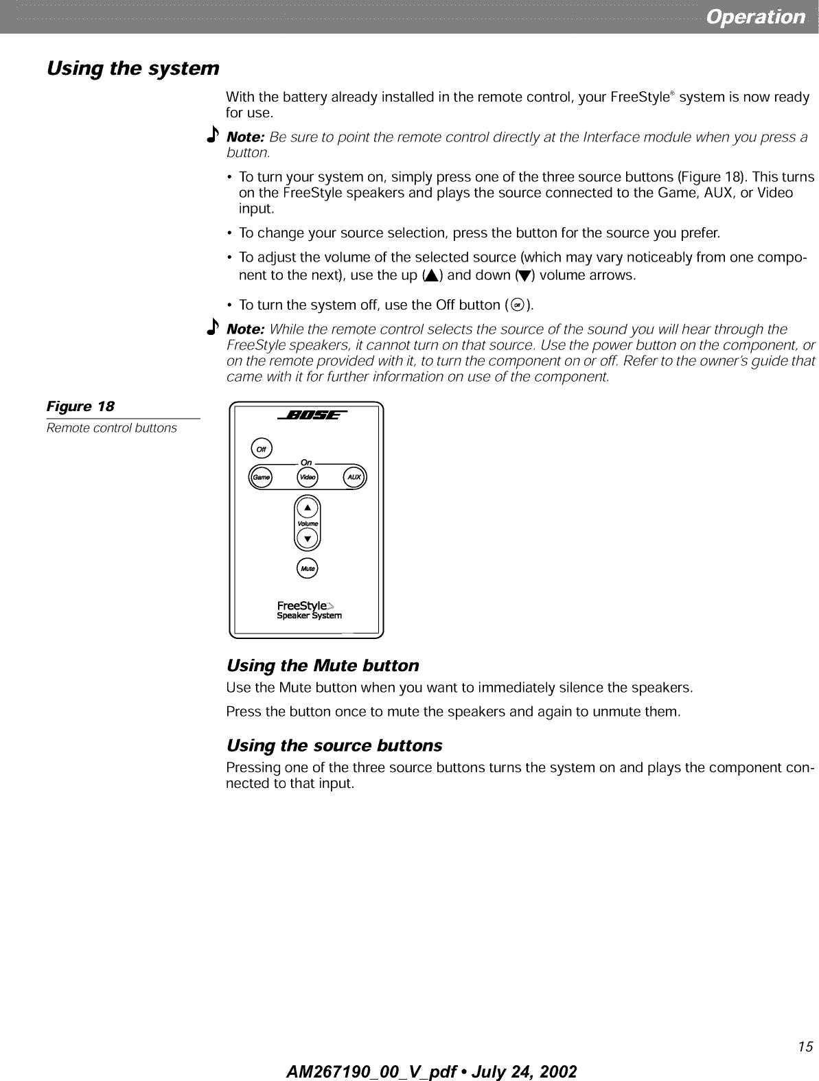 BOSE Speakers Manual L0210202