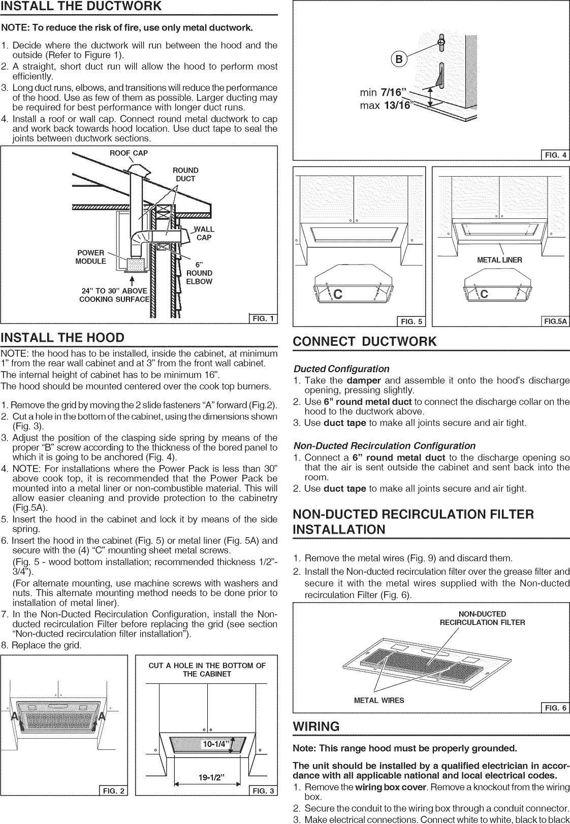 Broan Range Hood Manual L1002445 Wiring Diagram Page 2 Of 8