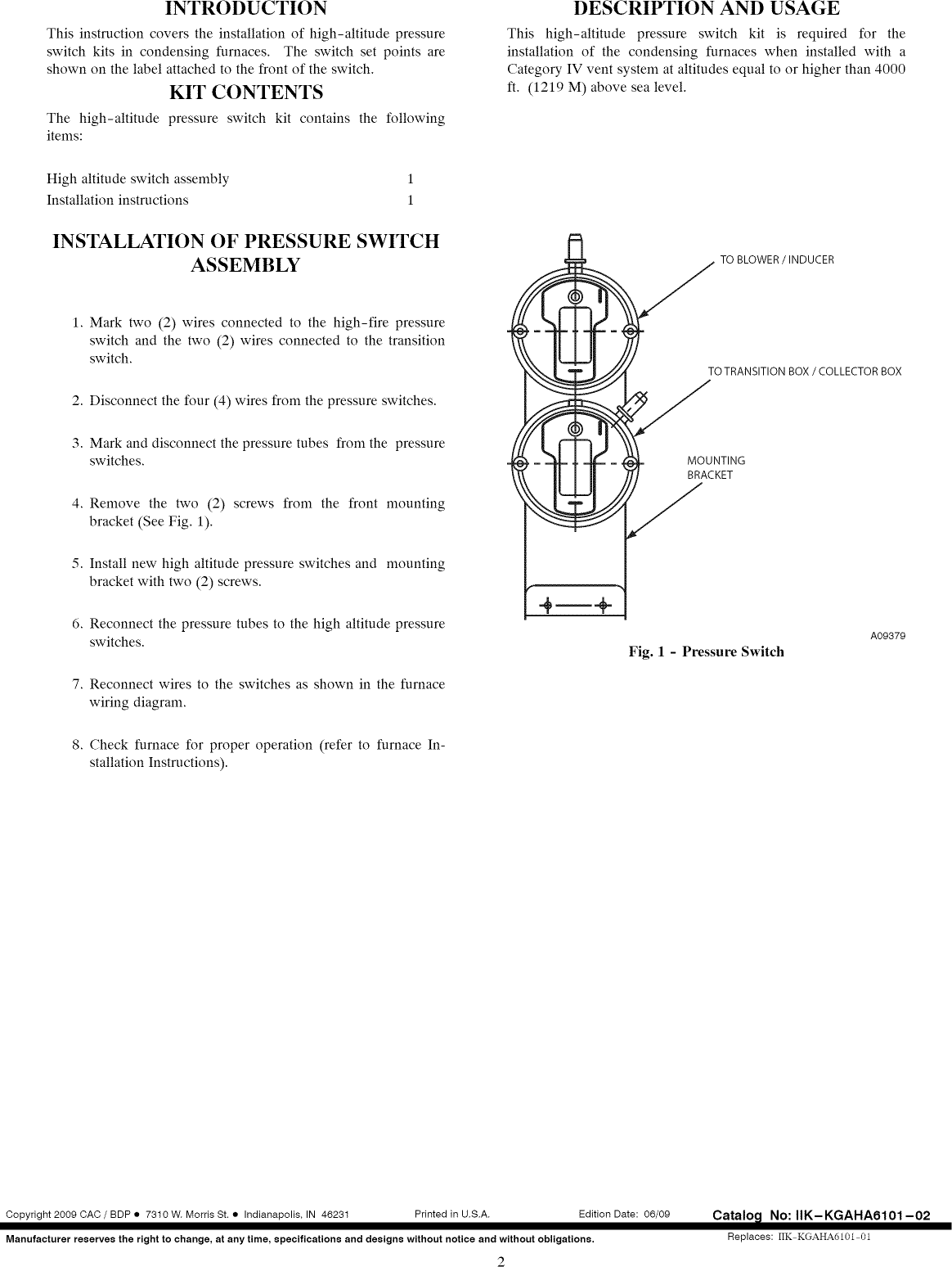Bryant Furnace Heater Gas Manual L1001009 Wiring Diagram Page 2 Of