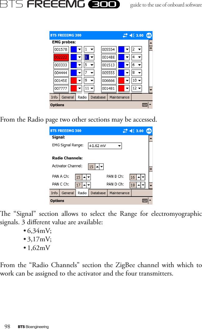 BTS BTSWEMG Wireless EMG sensor for EMG system User Manual