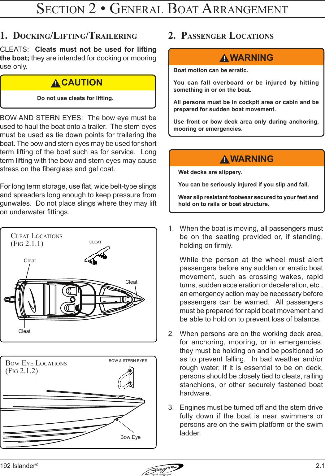 Baja Marine 192 Islander Users Manual