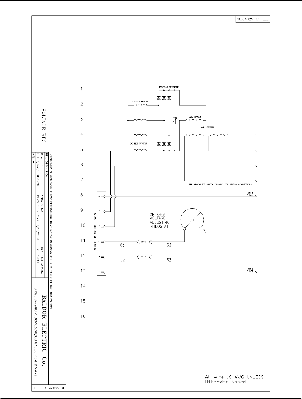 Baldor Ts35 Mn2417 Tier 2 3 Towable Generators User Manual To The High Efficiency Wiring Diagram Diagrams A 7mn2417