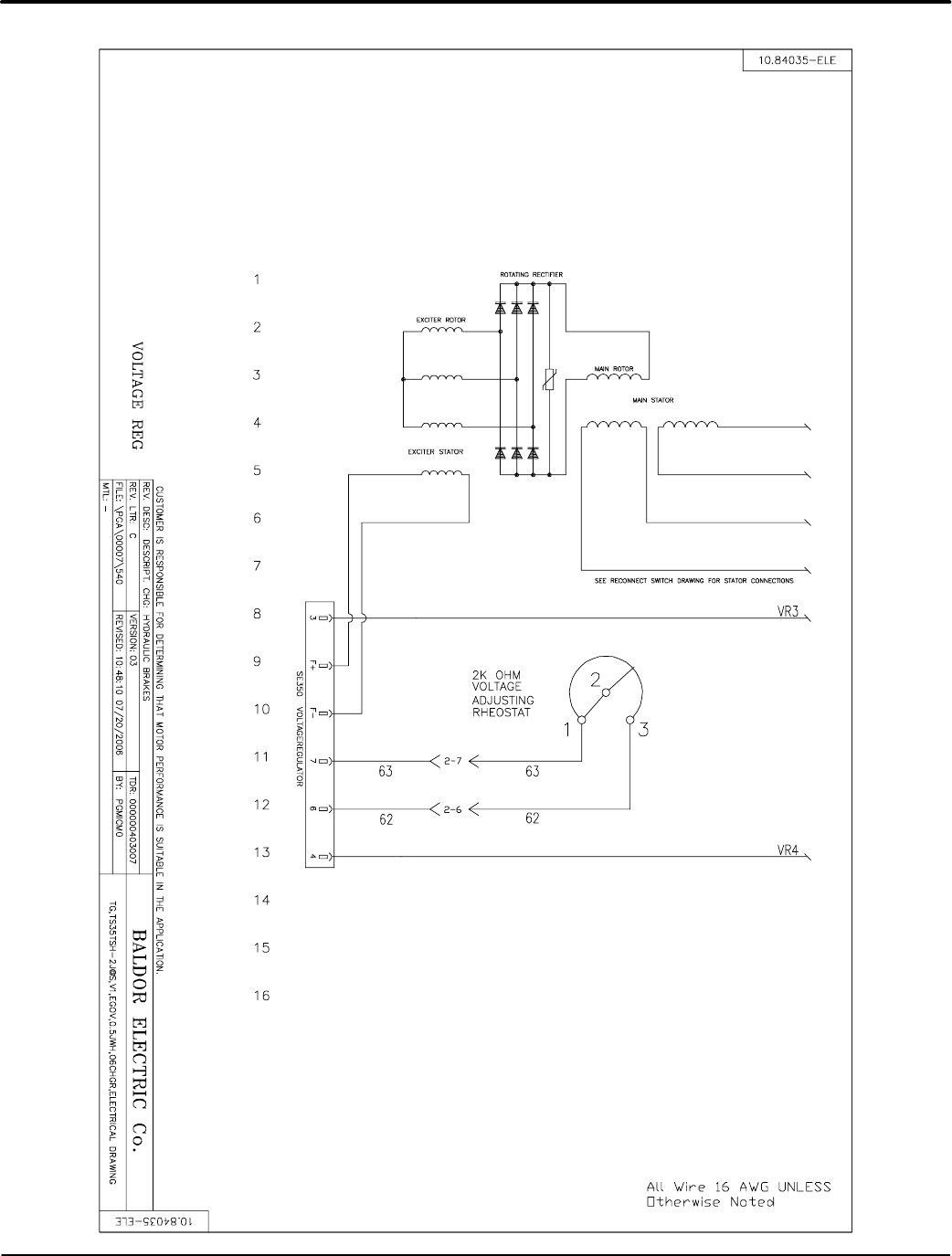 baldor ts35 mn2417 tier 2/3 towable generators user manual to the ... baldor high efficiency wiring diagram  usermanual.wiki
