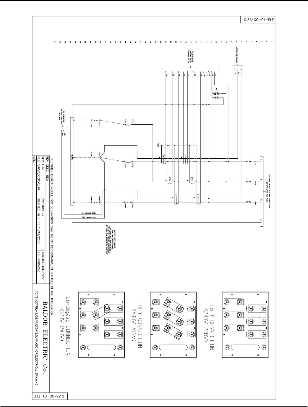 Baldor Ts35 Mn2417 Tier 2 3 Towable Generators User Manual To The High Efficiency Wiring Diagram A 32 Diagrams