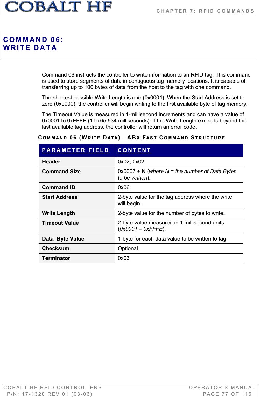 Balluff COBALT-01 RFID Reader / Writer (HF-CNTL-422-01) User