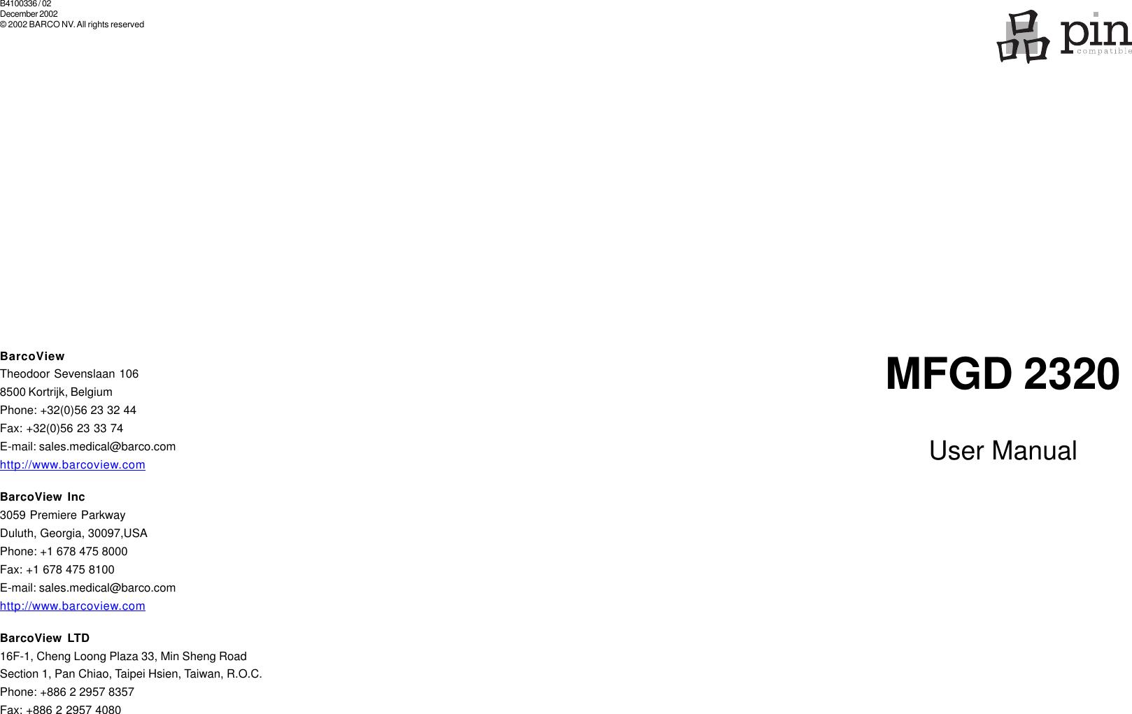 BARCO MFGD 2320 TREIBER WINDOWS 8