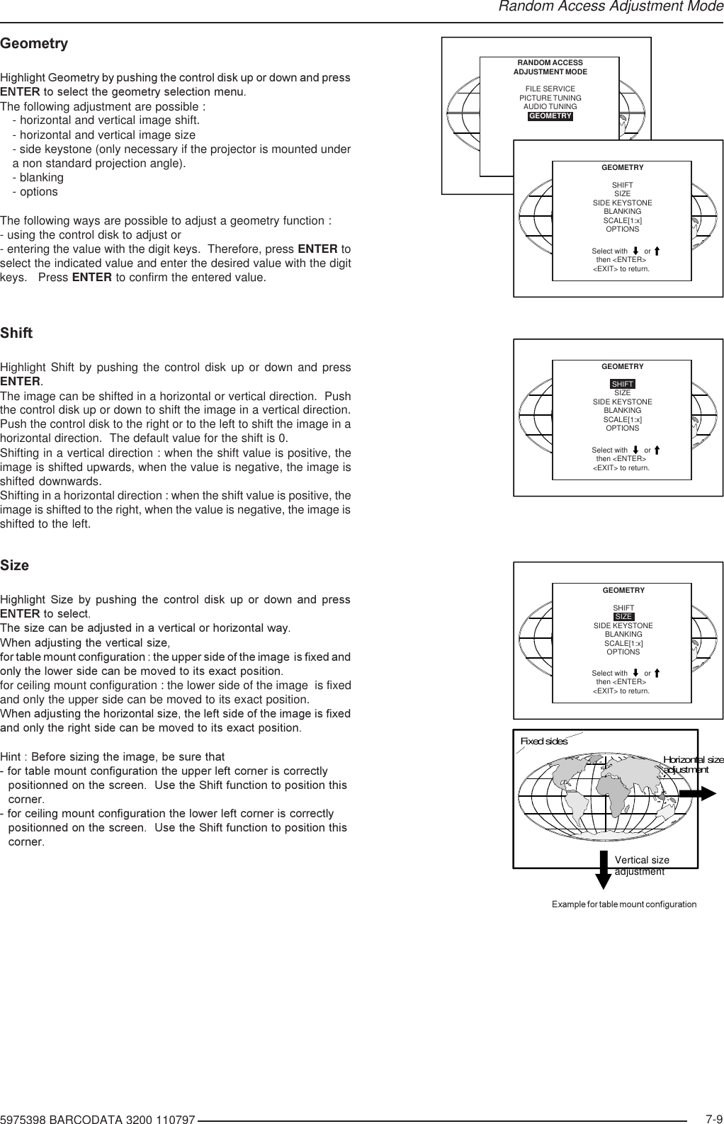 Barco R9001190 Users Manual