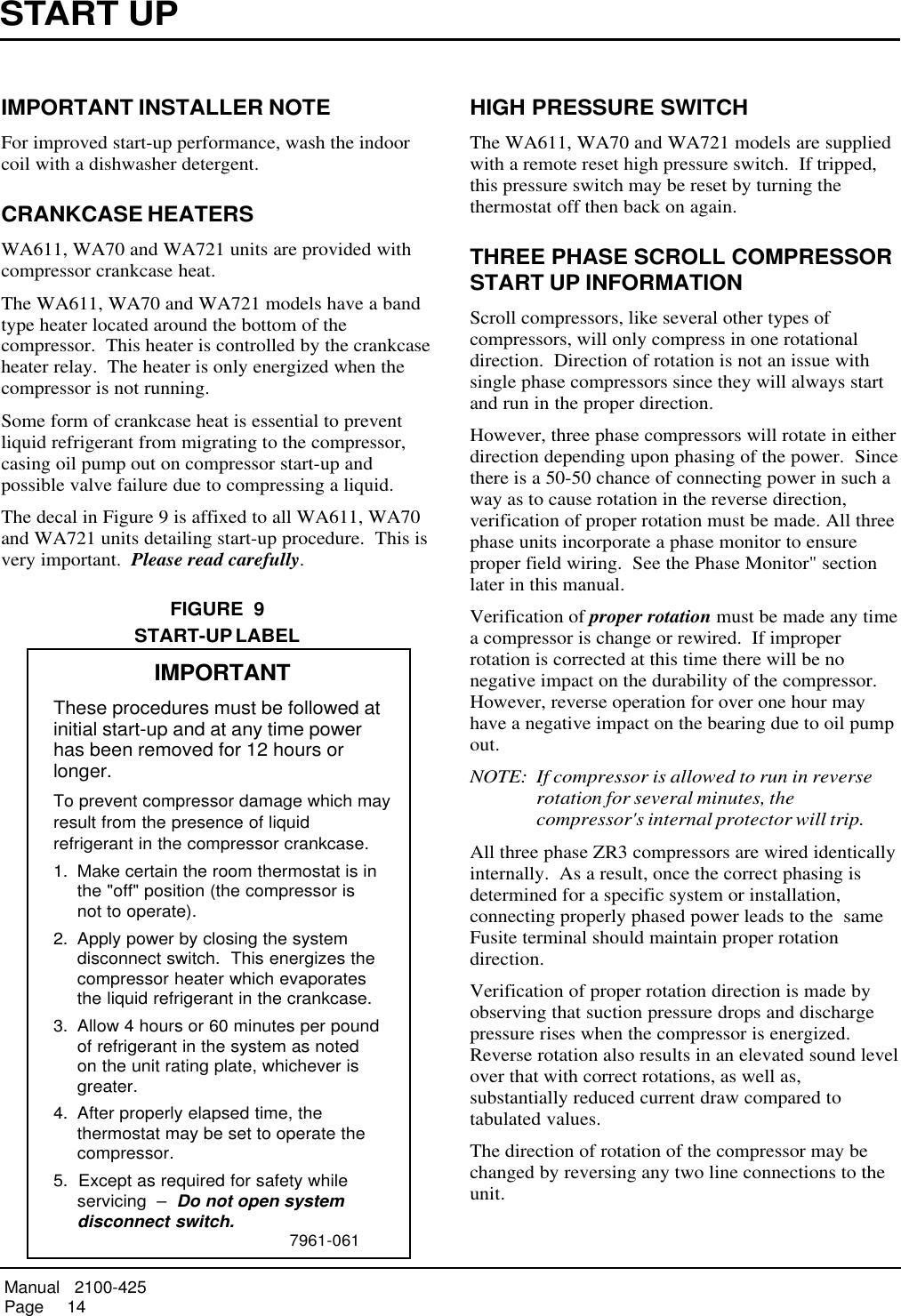 Bard WA611 2100 425 (2003 01) User Manual To The 2d4cf807