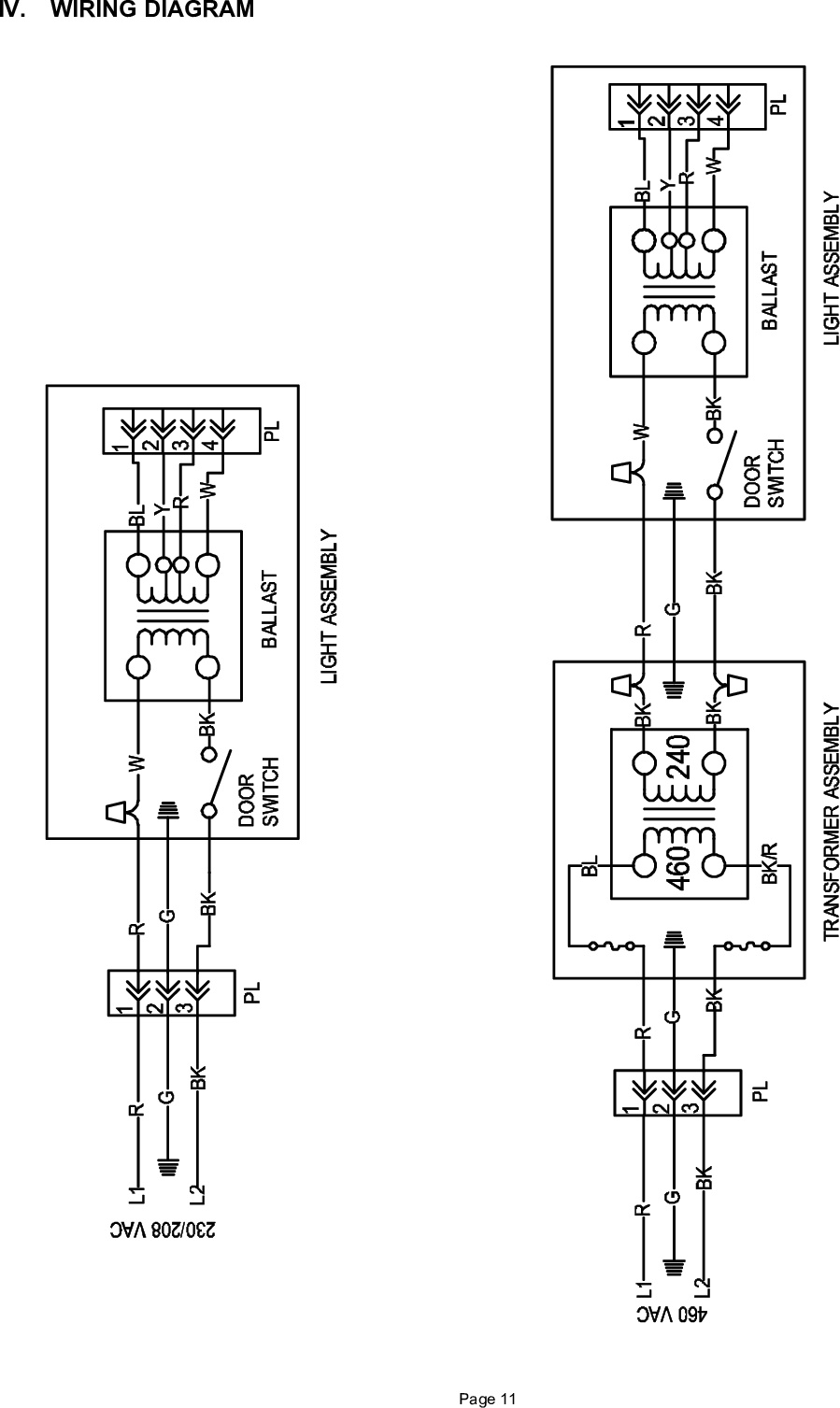 Bard Wuvclp C 46441700 Uv B Inst Sheet Rev A 10 03 User Manual To Wiring Diagrams Page 12 Of