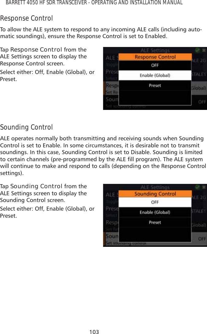 Barrett Communication 4050HF 4050 HF Transceiver User Manual