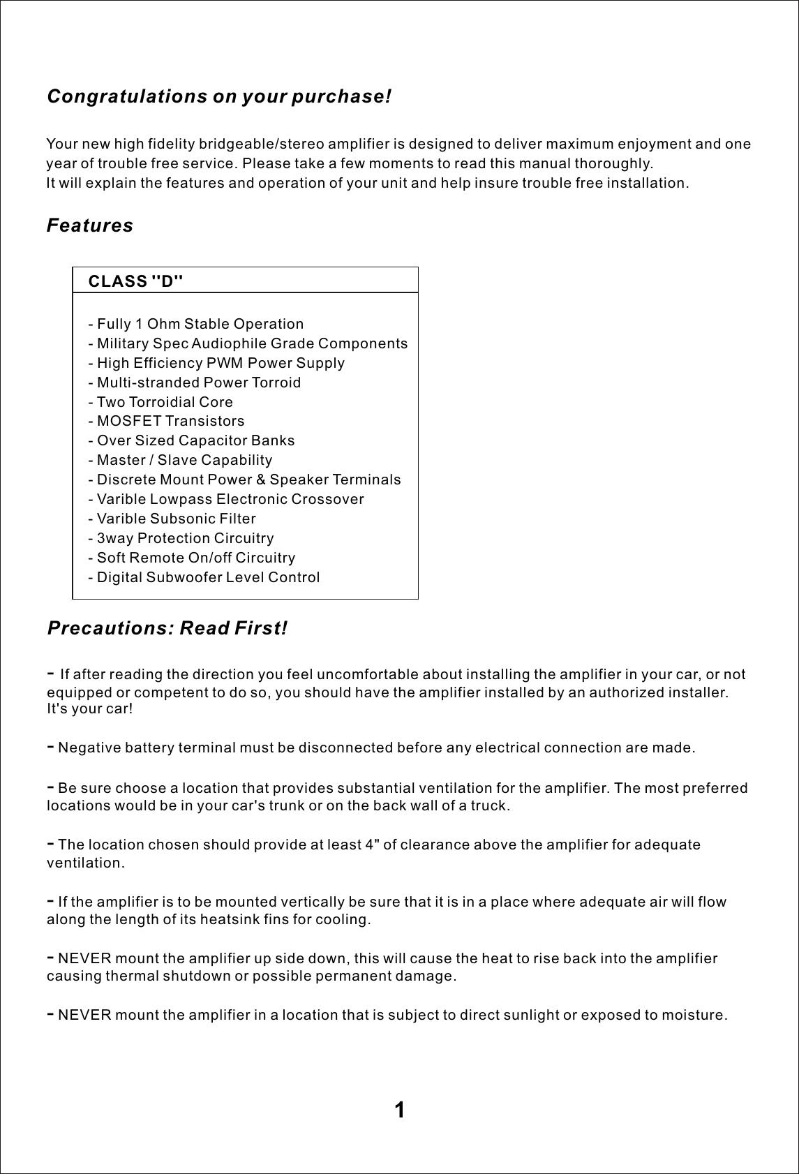 bassworx ba3000 1d users manual amplifier ba3000 1d rh usermanual wiki User Manual PDF User Manual Icon