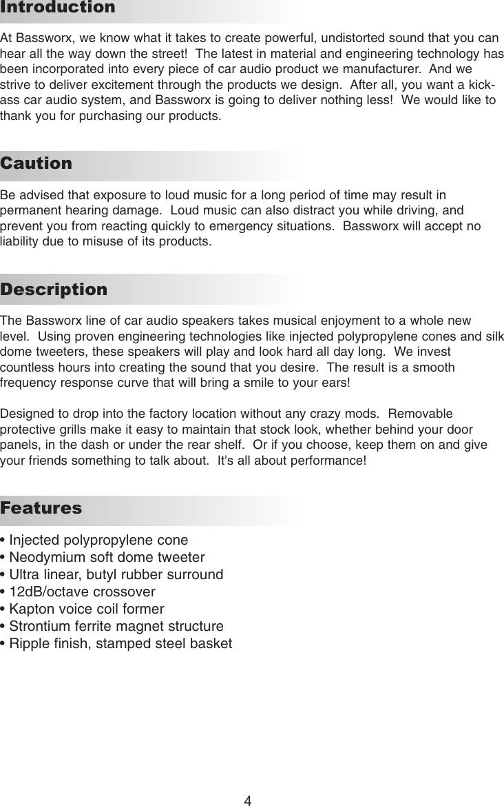 bassworx bsx series users manual rh usermanual wiki Operators Manual User Manual PDF