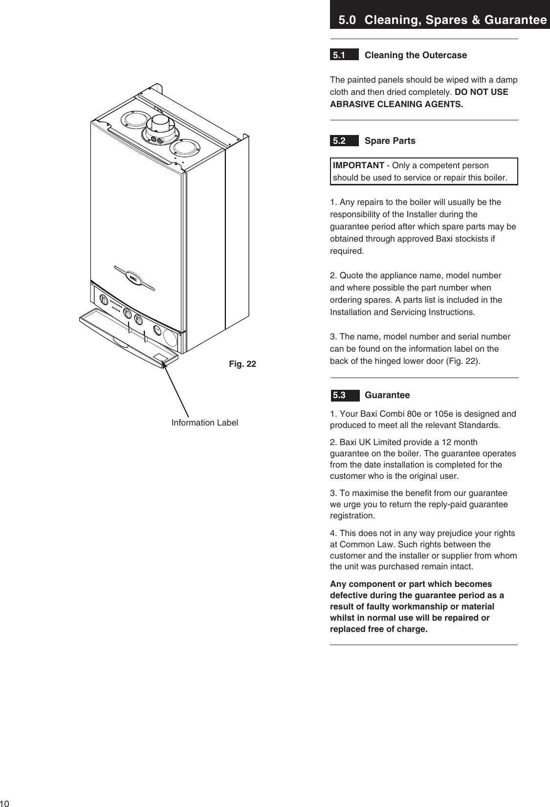 Baxi Combi 80 Eco Manuals