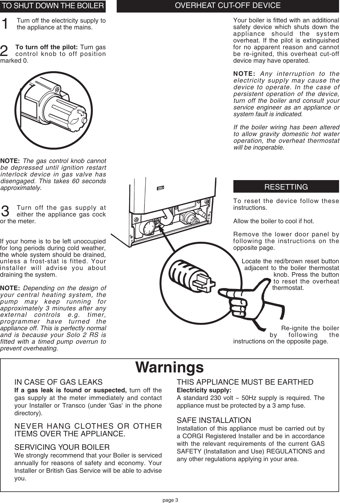 Baxi Solo 2 Rs Owners Manual 232187 Pump Overrun Wiring Page 3 Of 4