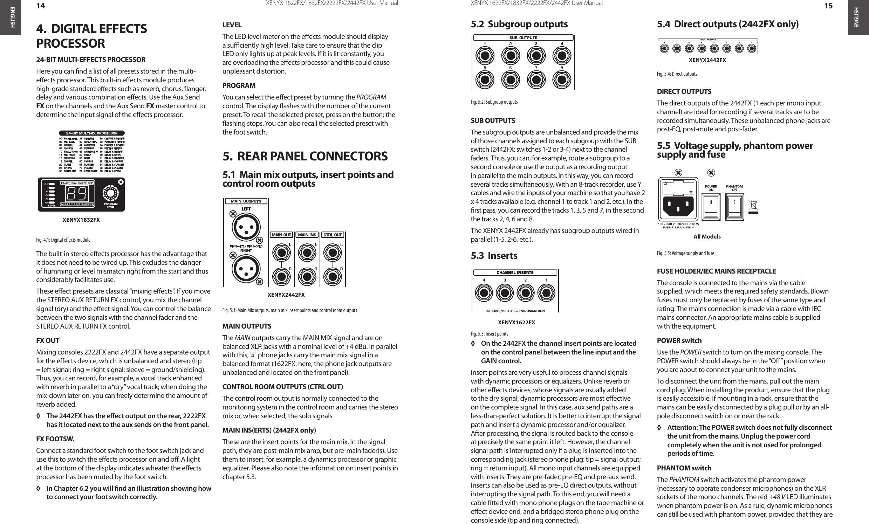 Behringer 2442fx Manual Diagram And W Tracking The Signal Go To Www Retrevo Com Array Xenyx 1832fx Users Xenyx1622fx 2222fx Rh Usermanual Wiki