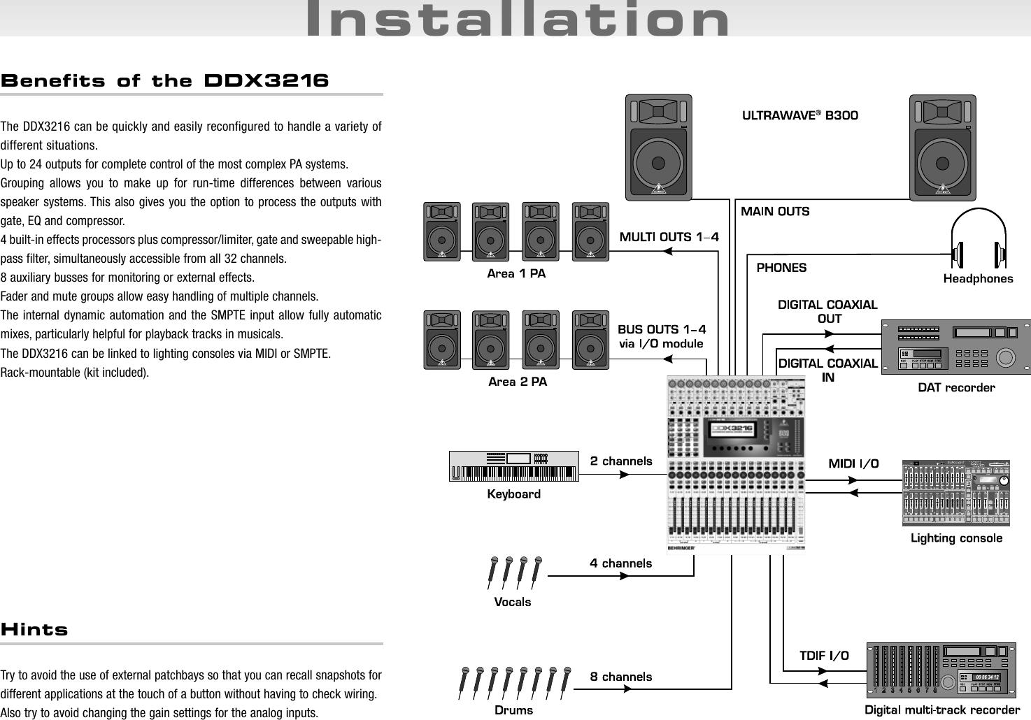 Behringer ddx3216 software