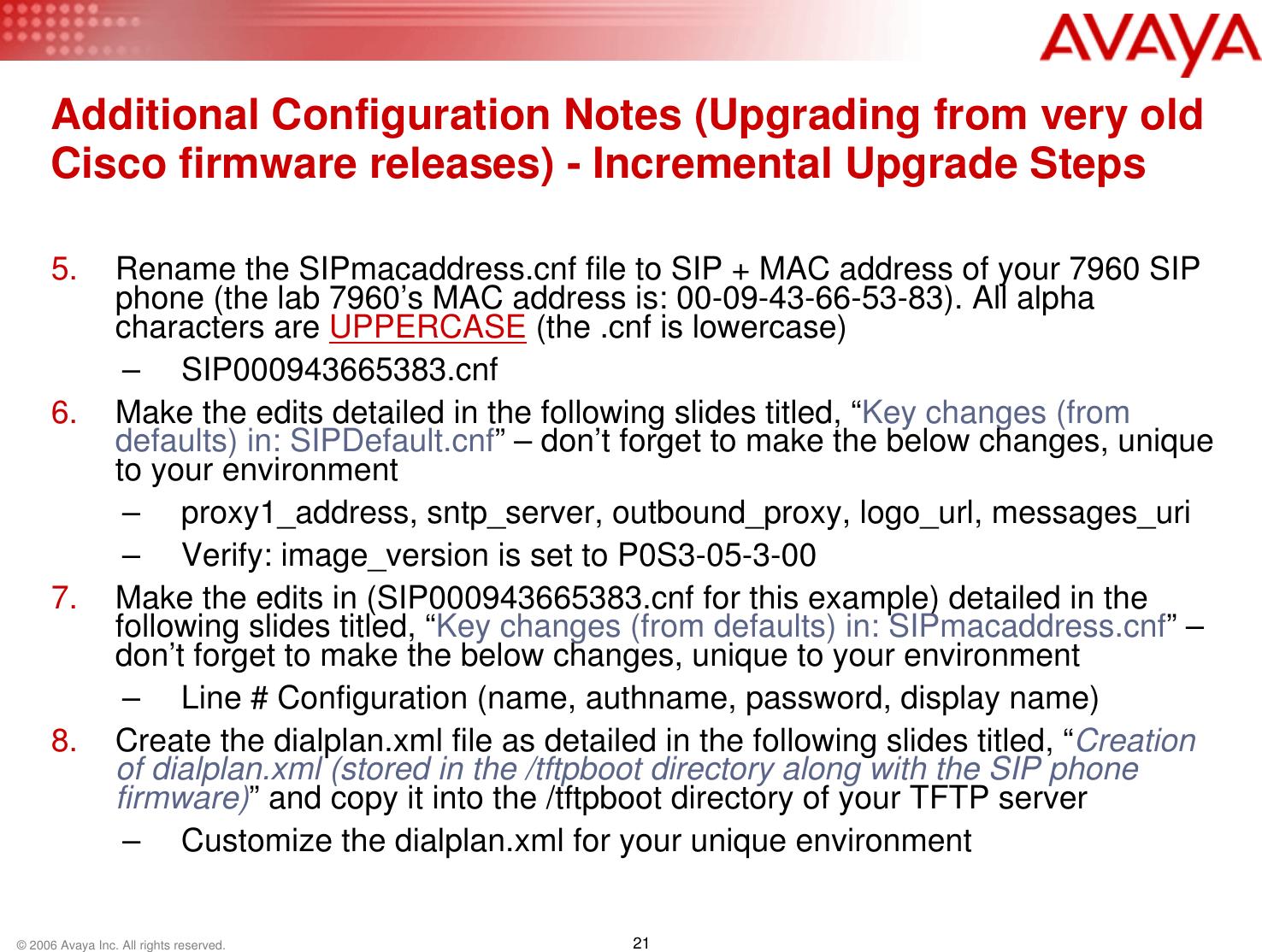 Belgacom 7940 Configuring A Cisco 7960/7940 SIP Phone For