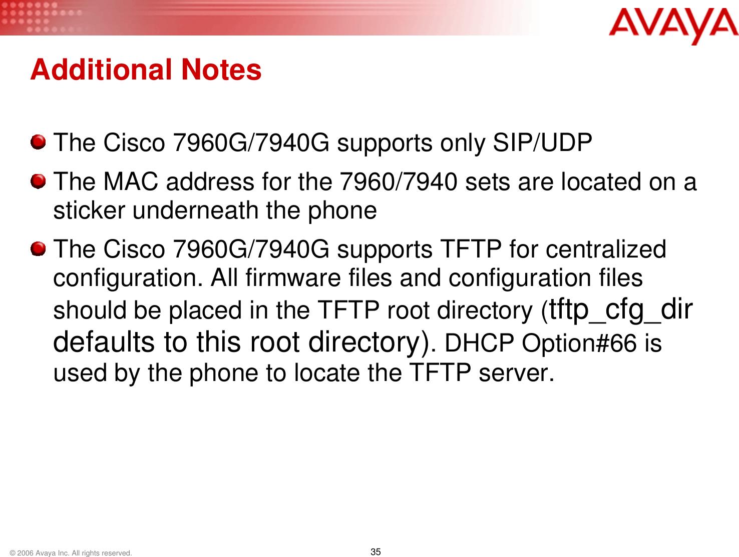 Belgacom 7940 Configuring A Cisco 7960/7940 SIP Phone For Use With