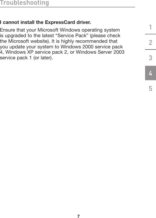 Belkin Gigabit Ethernet Expresscard F5U250 Users Manual ...