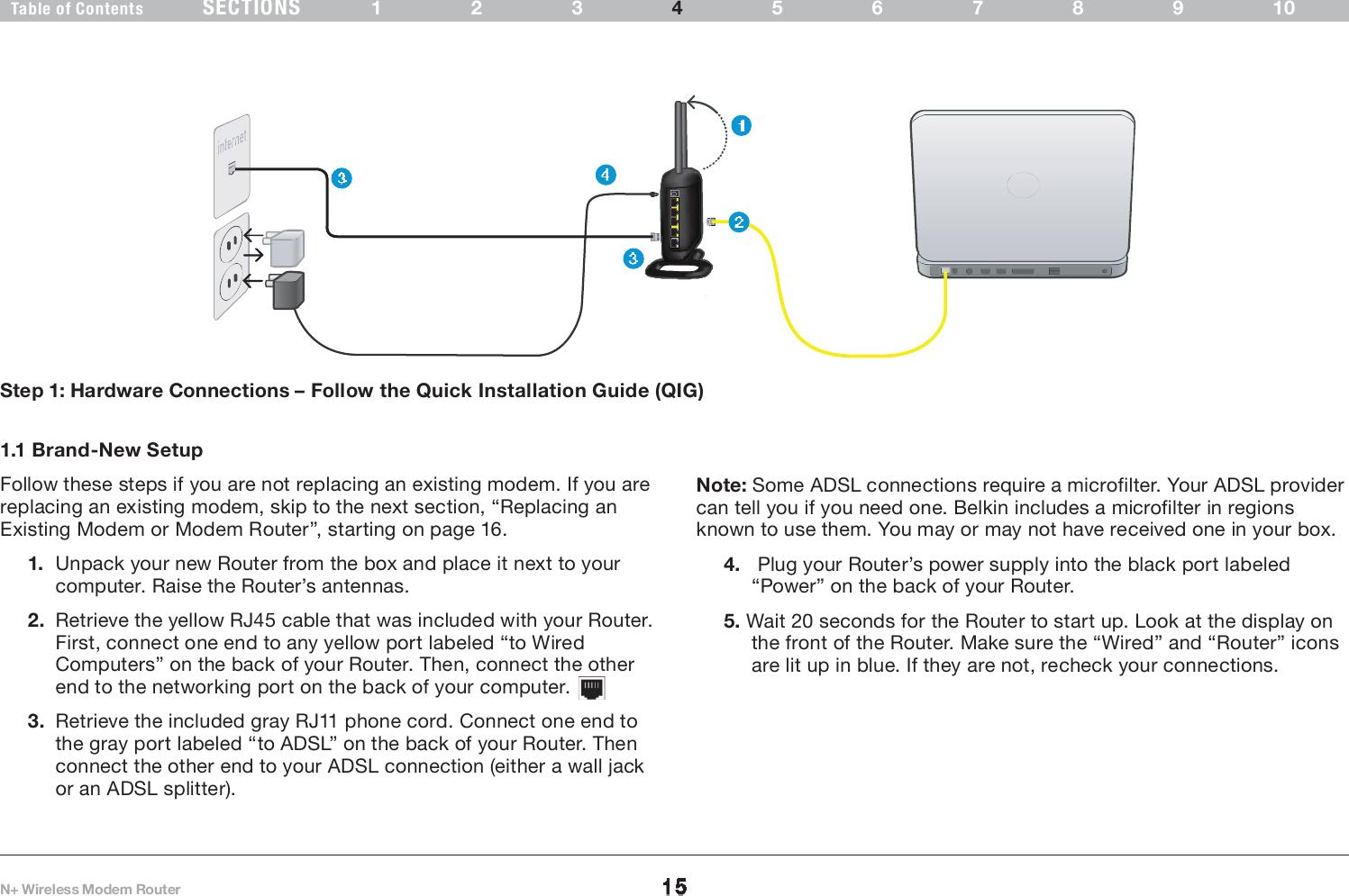 Belkin F5d8635v2 N Wireless Modem Router User Manual Userman Diagram