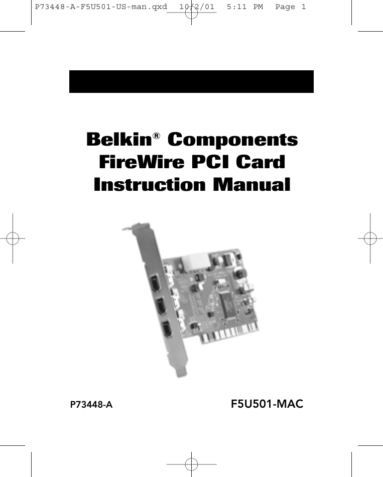 DOWNLOAD DRIVER: BELKIN F5U501-MAC