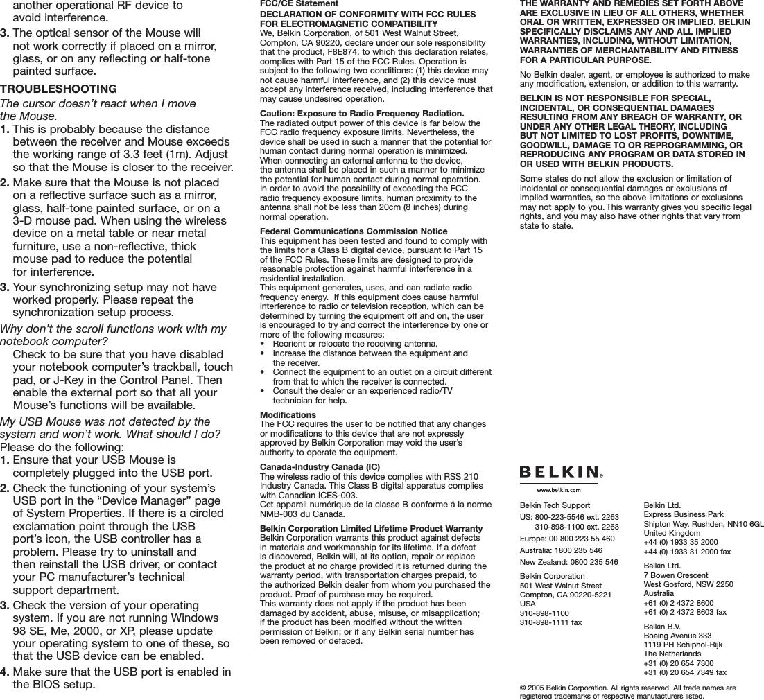F8E874 BELKIN DRIVER WINDOWS