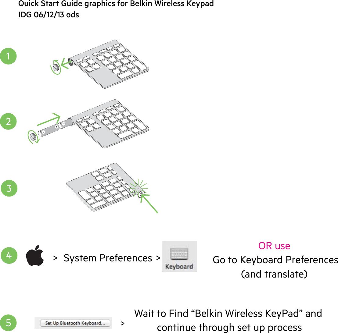 b27dd35c377 Belkin F8T067 Wireless KeyPad User Manual Wireless Keypad QIG v2 06 06 13