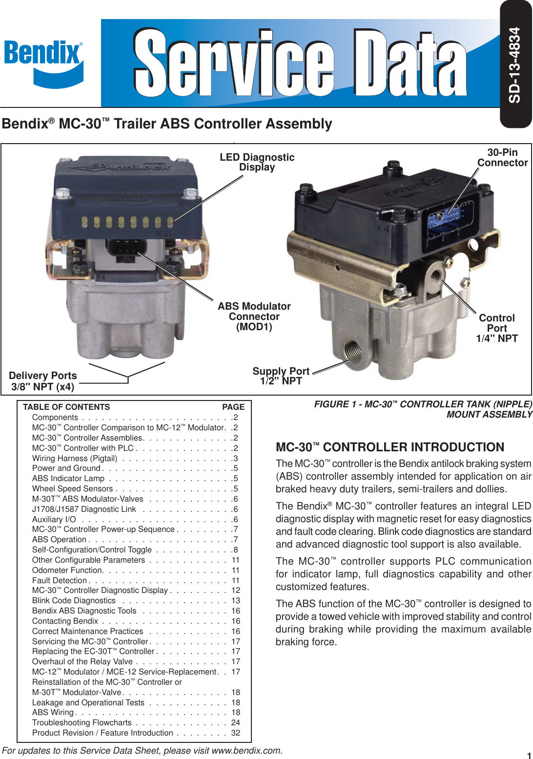 Bendix Bw2189 Users Manual Sd 13 4834i Trailer Abs Wiring Diagram