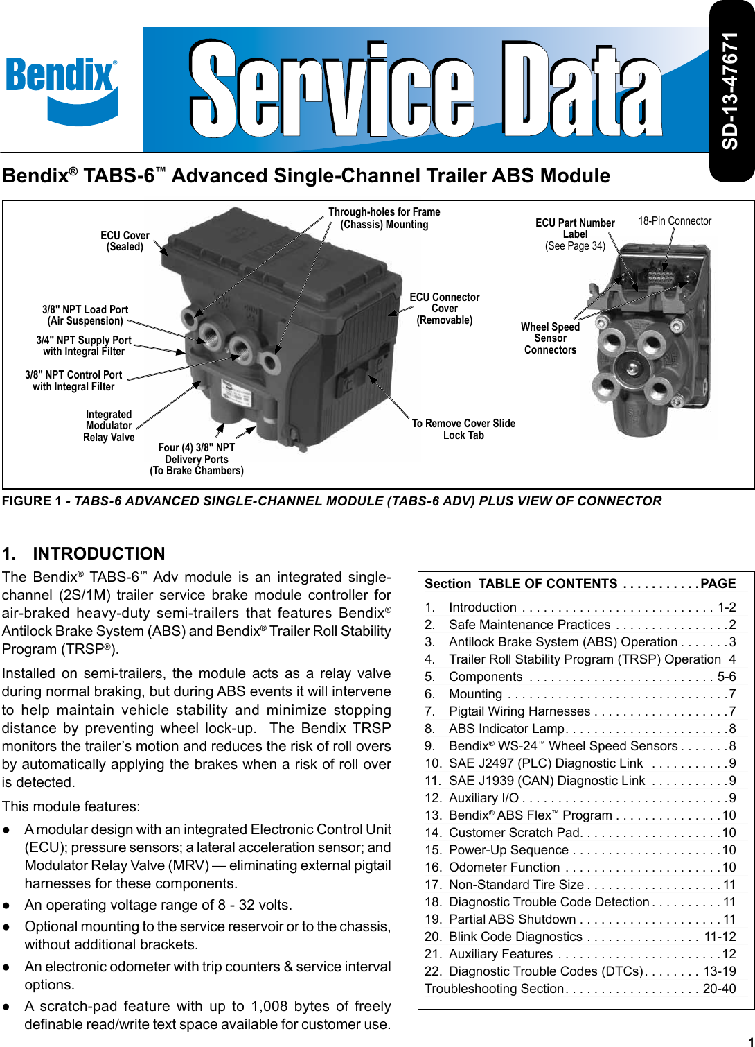 Bendix Bw2718 Users Manual Trailer Abs Wiring Diagram