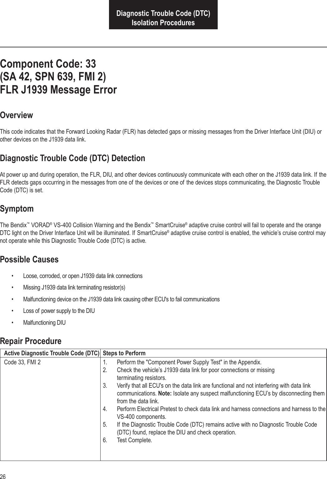 Bendix Bw2771 Users Manual