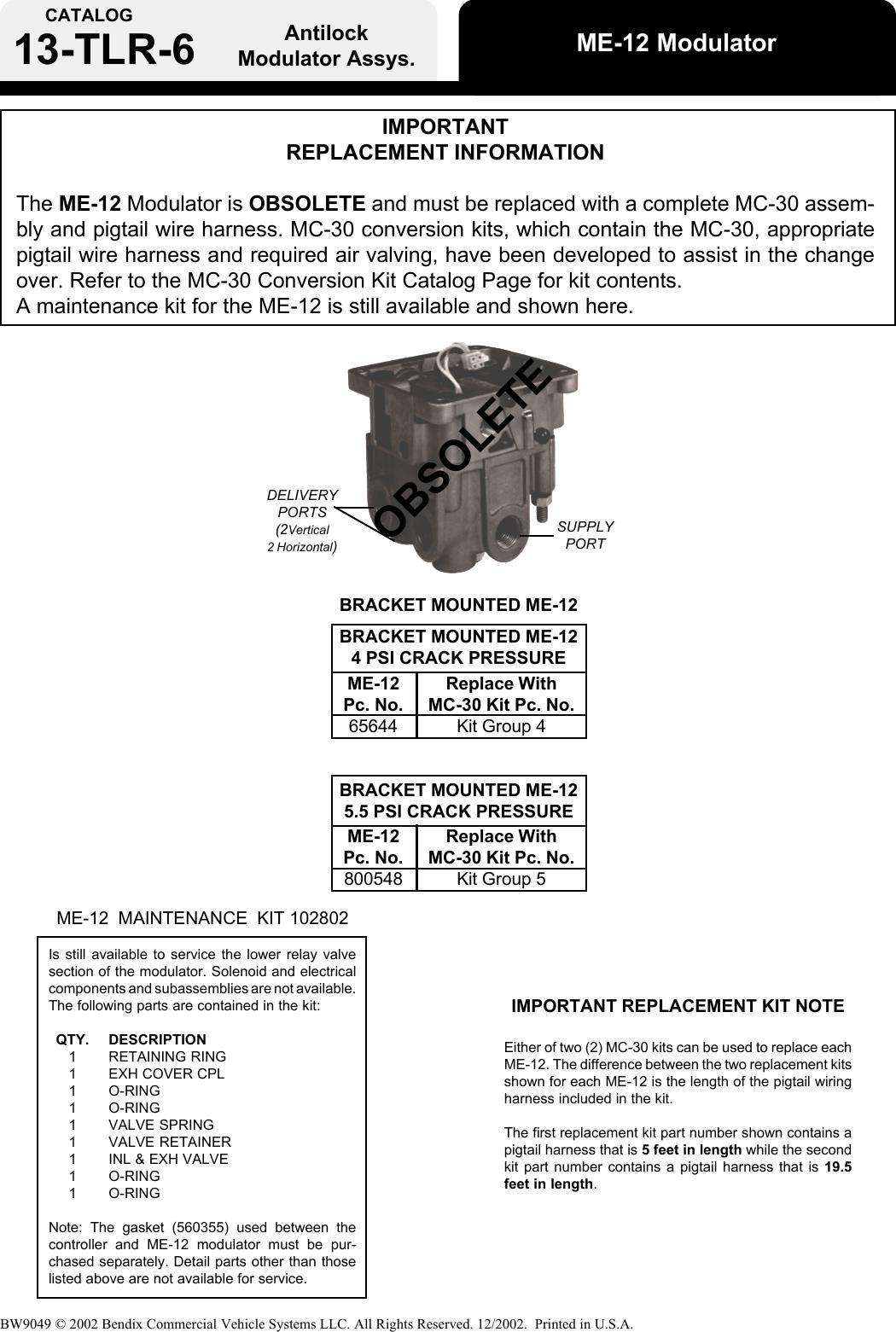 Bendix Bw9049 Users Manual General_