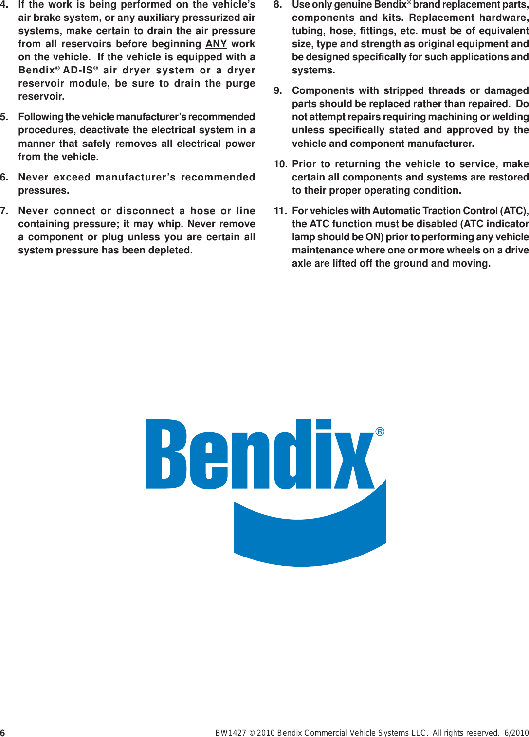 Bendix Sd 03 817 Users Manual 817g