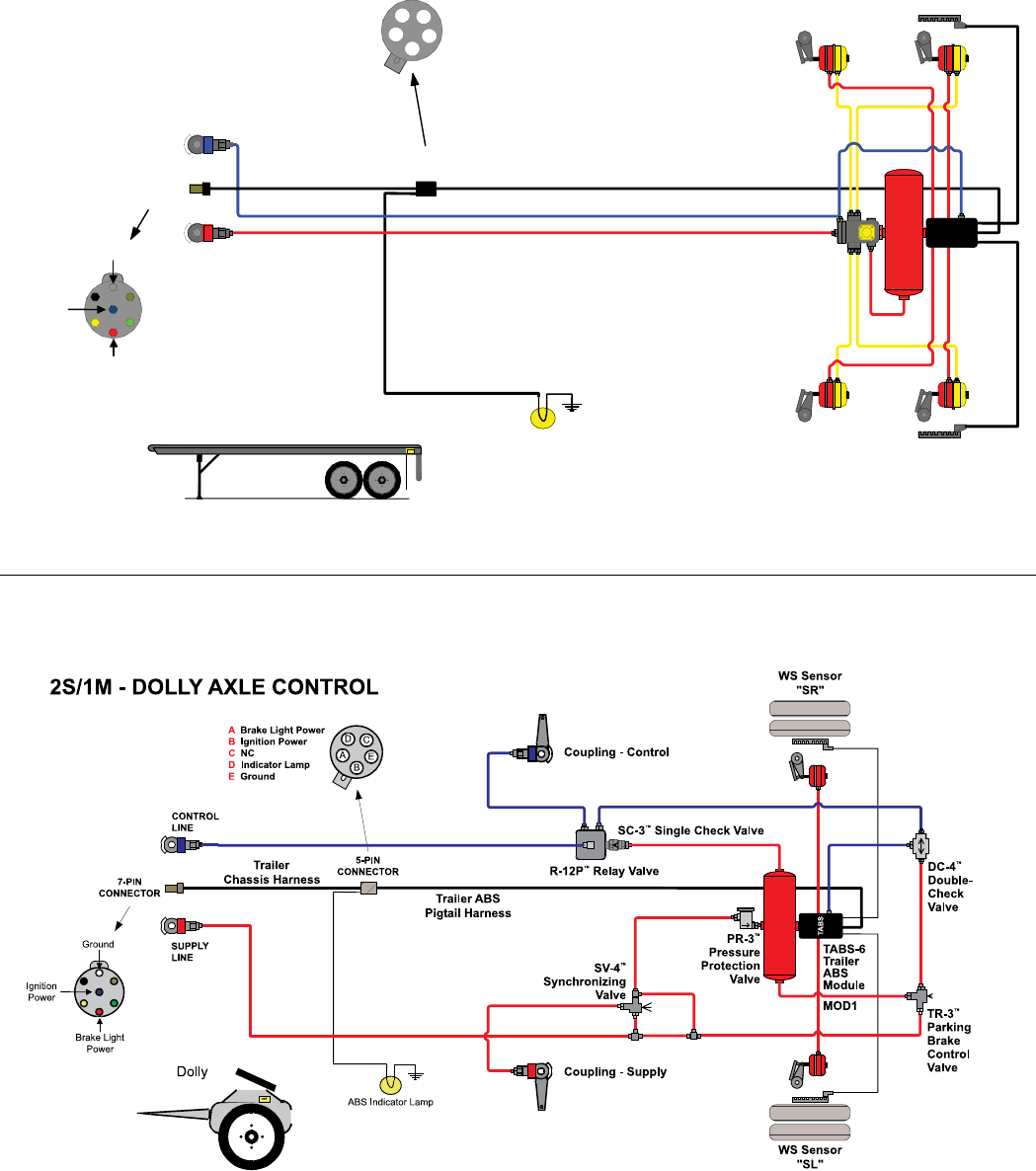 bendix abs wiring diagram bendix tabs 6 trailer abs module users manual manualslib makes it  bendix tabs 6 trailer abs module users