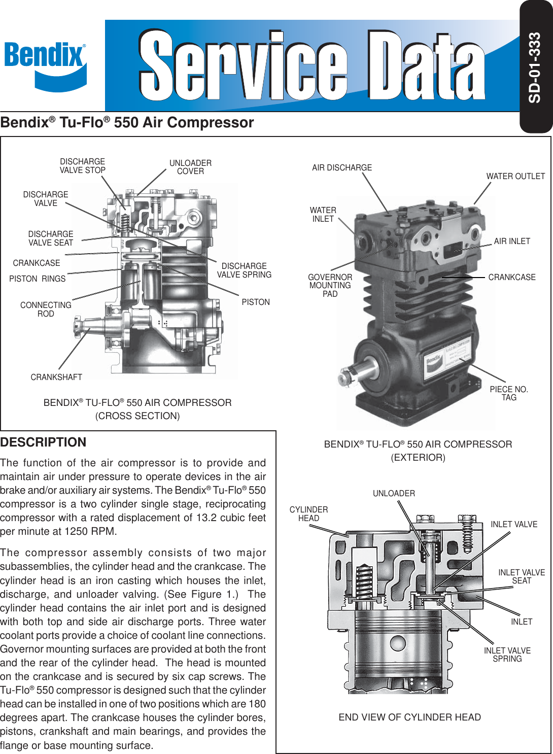 Bendix Tu Flo 550 Compressor Users Manual Manualslib Makes It Easy To Find Manuals Online