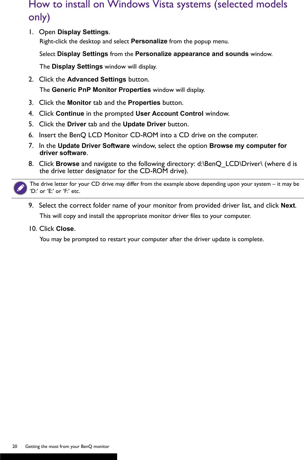 Benq Gw2265 Users Manual GW2265HM User Guide