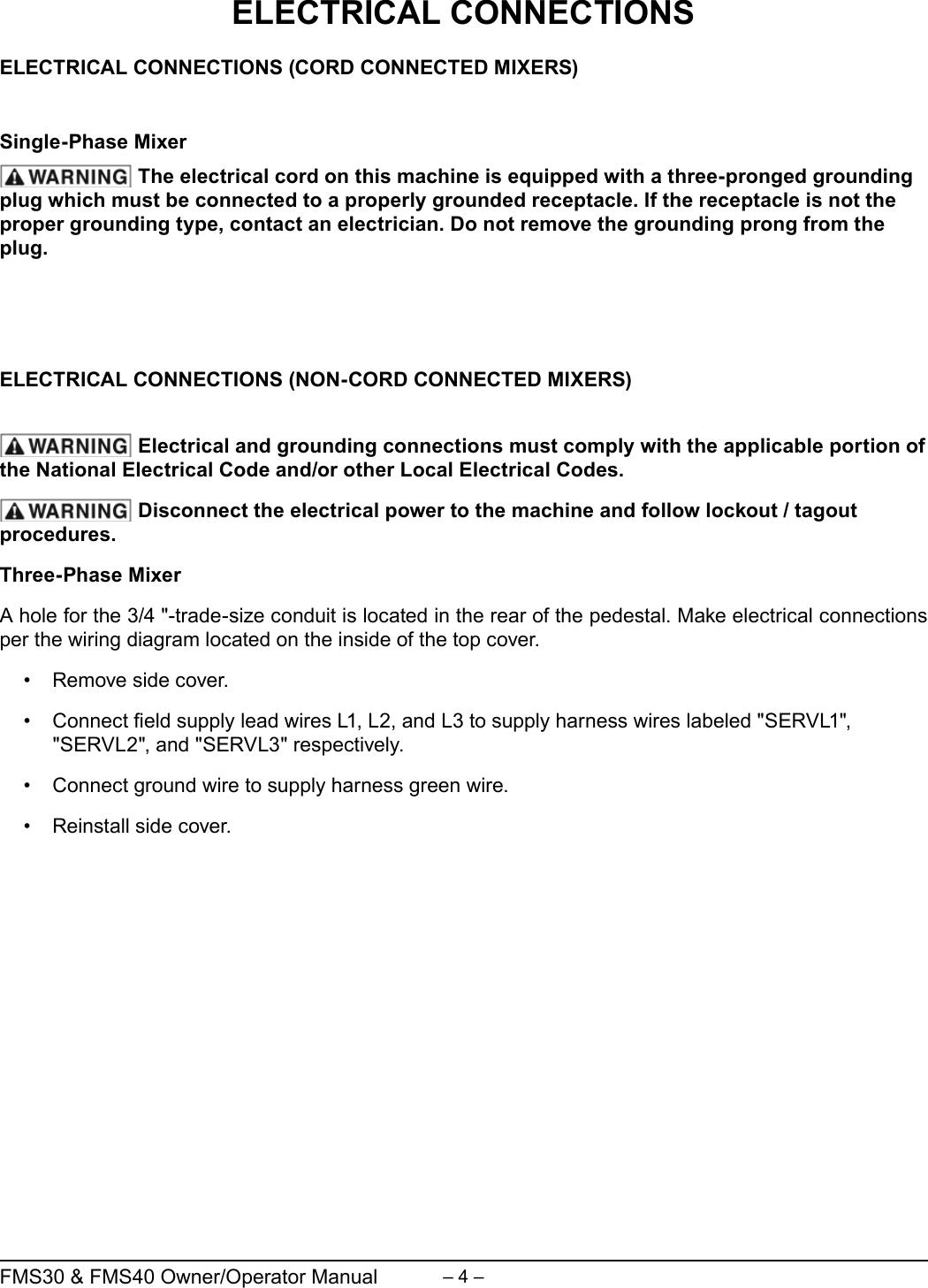 Berkel Fms40 Users Manual Dough Mixer Wiring Diagram Page 4 Of 12
