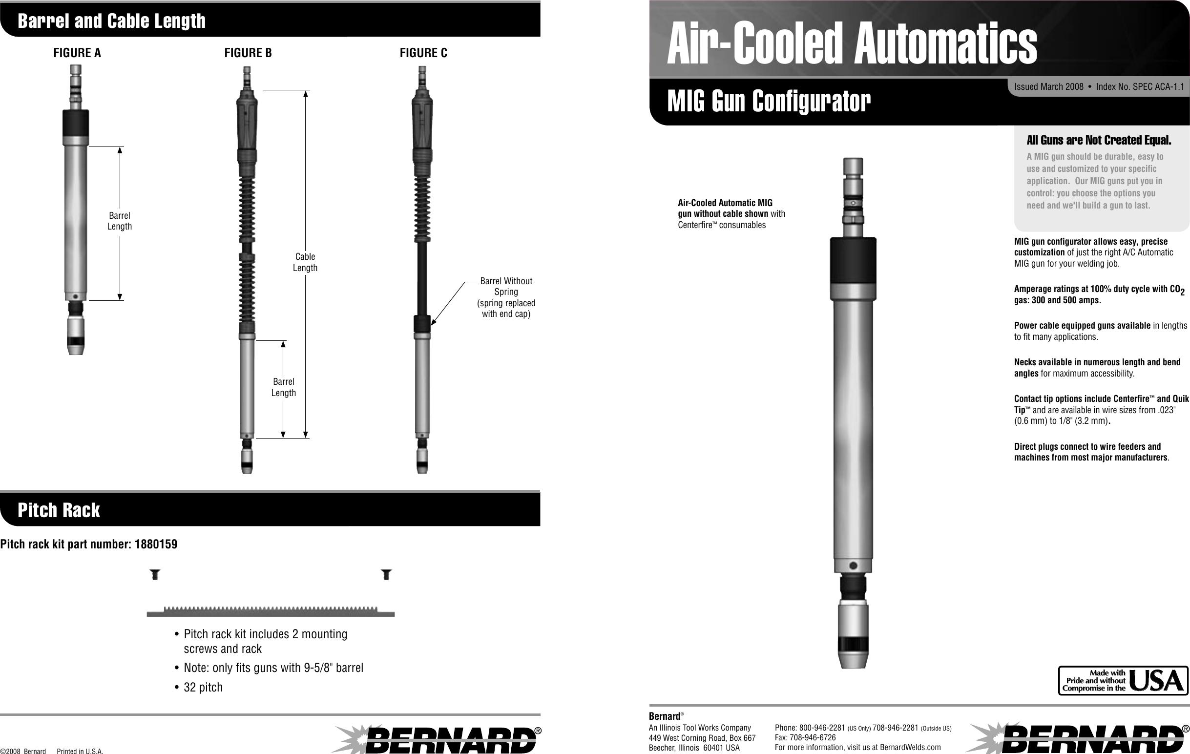 Bernard Mig Gun Configurator Users Manual