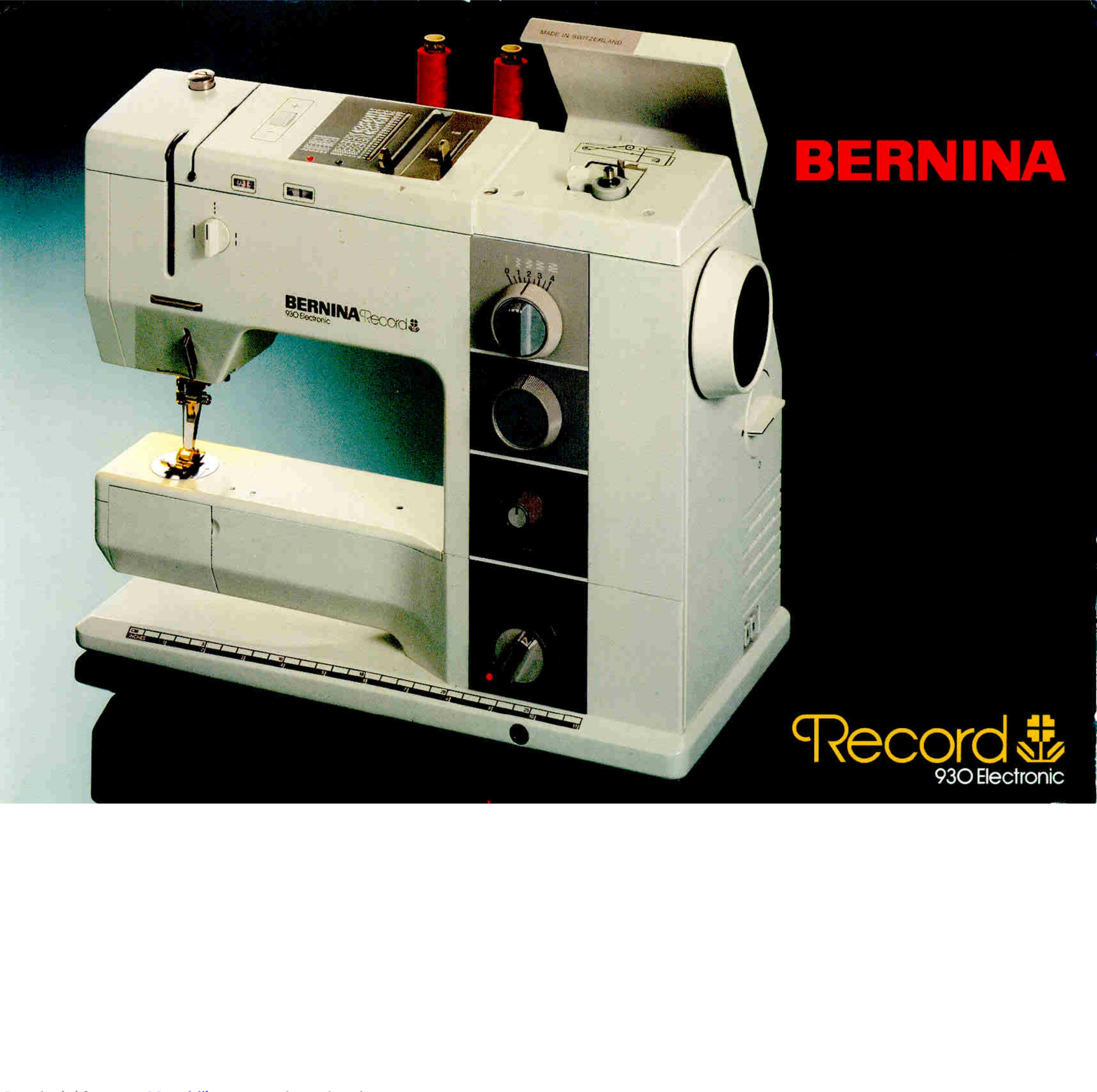 Bernina Record 930 Electronic Manual 1002738