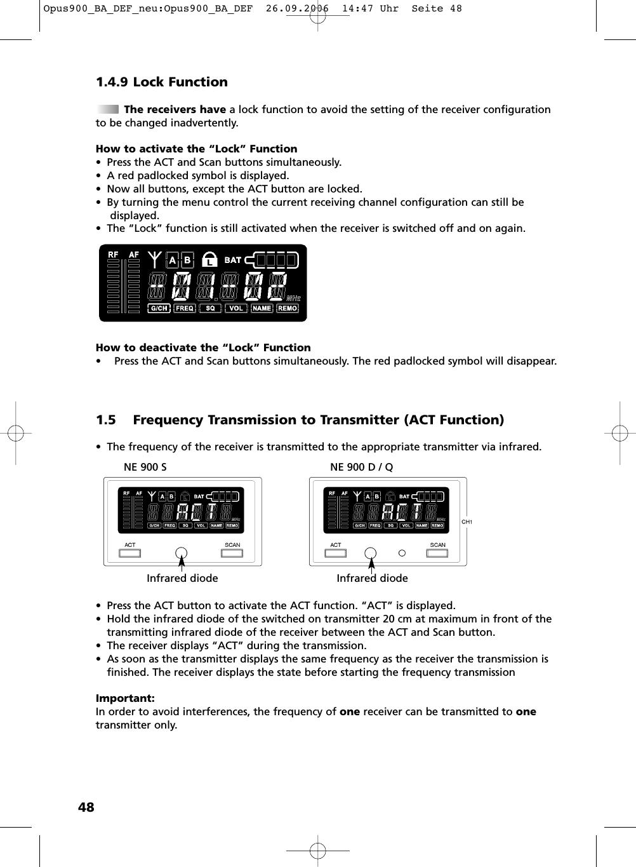 Beyerdynamic s900 wireless microphone user manual opus900 ba def page 48 of beyerdynamic s900 wireless microphone user manual opus900 ba def neu opus900 ba def biocorpaavc Choice Image
